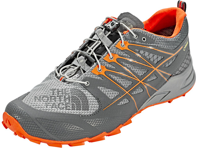 The North Face Ultra MT II GTX Shoes Men Blackened Pearl/Scarlet Ibis